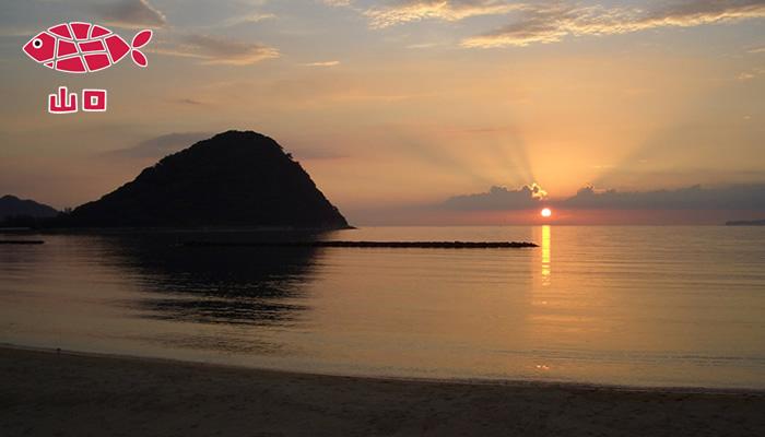トトタベローネ萩の会場の浜辺です